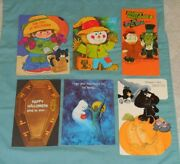 Vintage Halloween Greeting Cards Lot Of 6 By Norcross