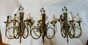 Vintage Set 3 Arrow Quiver 20 Wall Sconce Brass Lamp Hunting