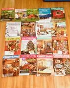 Lot Of 21 = 14 Country Living And 4 Mountain Living And 3 Farm-ranch Living Magazine