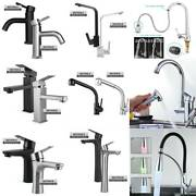 Stainless Steel Kitchen Faucets/led Pull Out Tap/bathroom Basin Sink Mixer Tap