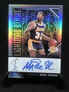 2019-20 Obsidian Magic Johnson Rare Auto Lightning Strike 35/35 Rare