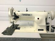 Brother Ls2-f53a Walking Foot Vert Bobbin +rev 110v Industrial Sewing Machine