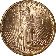 1911-s Saint-gaudens Gold 20 Pcgs Ms62 Great Eye Appeal Strong Strike
