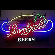 Leinenkugels Beer Real Glass Beer Bar Store Party Decor Neon Light Signs 24x20