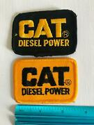 Cat Caterpillar Diesel Power Tractors Trucks Trucker Jacket Hat Cap Patch 2 Lot