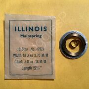 Nos Mainsprings For Illinois Watches 12s To 18s - Select A Style/size