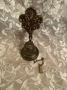 Ornate Brass Swan Door Bell With Chain