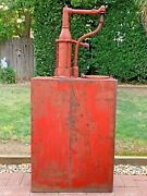 Large Antique Oil Pump The Phillips And Tank Co. Lubester Dispenser Vintage Old