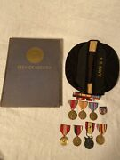 Ww2 Us Navy Seabees 145th Usn Grouping Rare Service Record Book Medals Ribbons
