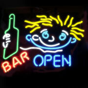 Neon Signs Gift Cocktail Bar Open Beer Bar Pub Party Room Wall Decor 19x15