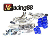 For 93-95 Mazda Intercooler Charge Pipe Kit+aluminum Piping+4-ply Silicone Hose