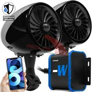 100w Waterproof Amp Bluetooth Motorcycle Atv Stereo Speakers System Audio Radio