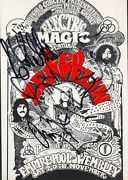 Led Zeppelin Page, Plant And Jones Signed Electric Magic Postcard Inperson Scarce