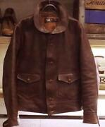 Rrl A1style Leather Jacket Brown Size L From Japan Free Shipping