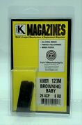 120m Baby Browning 25 Acp 6 Round Rd Magazine/mag Blued Steel Triple K .25 Clip