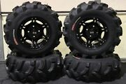 Yamaha Grizzly 550 25 Executioner Atv Tire And Viper Blk Wheel Kit Irs1ca