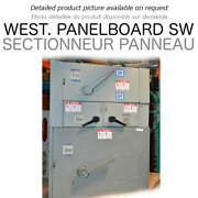 Panel Switch 400a 600v 3ph West Used