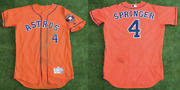 George Springer Houston Astros Game Used Worn Jersey - 2nd Career Gs Mlb Auth