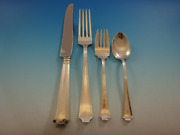 Fairfax By Gorham Sterling Silver Flatware Set For 6 Service 24 Pcs Dinner Size