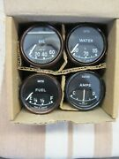 Jaguar E-type Series One Smiths Oil Water Fuel And Amp Gauges Original And Work