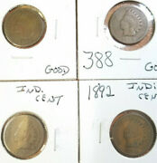 1888, 1891, 1892, 1889, 1896, 1893, 1895, 1896 Indian Head Penny