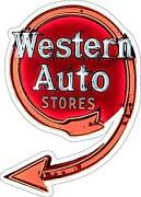 Western Auto Stores Neon Style Plasma Cut Metal Sign