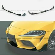 For Toyota 19+ Supra A90 Forged Carbon Look Front Bumper Lip Spillter Bodykits