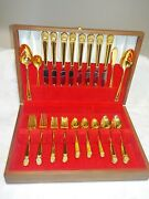 1847 Rogers Bros Eternally Yours Gooldplate Flatware 52 Pc Service For 8 W/box
