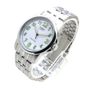 Casio Mtp1216a-7b Menand039s Enticer Stainless Steel Easy Reader White Dial Watch