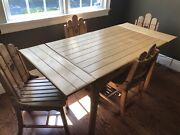 Antique Maple Wood Extension Table 4❤️slat Chair Dining Set Make Offer