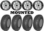 Kit 4 Ams M4 Evil Tires 30x10-14 On Msa M38 Brute Machined Wheels Can