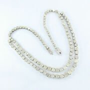 Full Long Polki Diamond Victorian Necklace 925 Silver Jewelry Gift For Her Jp