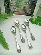 4  Towle Silver London Shell Silverplate Teaspoons 1989  Germany