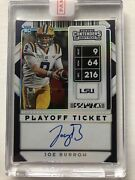 2020 Contenders Joe Burrow Rps Variation A Playoff Ticket On Card Rc Auto 2/6