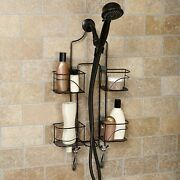 Bronze Expandable Over The Shower Head Caddy Hand Held Holder Storage Organizer