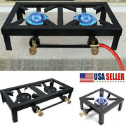 Camping Stove Double/single Burner Cast Iron Propane Gas Lpg Stove Bbq Cooker