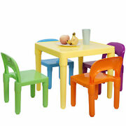 Kids Table And Chairs Play Set Activity Furniture In Outdoor Toddler Child Toy