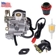 50cc Scooter Carb Carburetor For 4 Stroke Chinese Gy6 139qmb Engine Moped Sunl