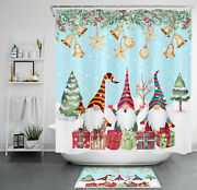 Cute Dwarf Elf Shower Curtain Sets Christmas Gifts For Bathroom Decor And Hooks
