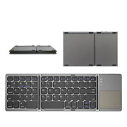 Mini Folding Bluetooth Keyboard With Touchpad Portable Wireless For Pc Android