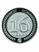 Pinmart's 16 Years Of Service Award Employee Recognition Gift Lapel Pin - Black