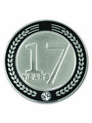 Pinmart's 17 Years Of Service Award Employee Recognition Gift Lapel Pin - Black