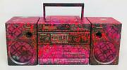 E.m. Zax Boombox One-of-a-kind Hand Painted Vintage