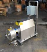 Mobile Emulsion Pump High Shear Emulsifying Pump 7.5kw With Wheels Fast Ship