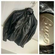 Buco Auth 1950and039s Vintage J-100 Stand Riders Jacket Black X Silver Size 38 Used