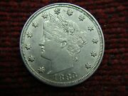 1883 N/c Liberty Head Nickel - Nice Natural Coin From Coin Purse Collection