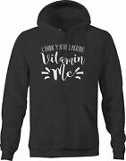 Think Youre Lacking Vitamin Me Girl Personality Hoodies For Men Dark Grey