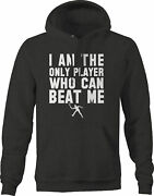 I Am The Only Player Who Can Beat Me Tennis Hoodies For Men Dark Grey
