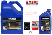 Yamaha Oem F150 Outboard Oil Change Kit 1g +qt 10w-30 4m Filter Lub-mrnmr-kt-10