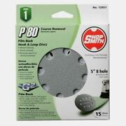 Shopsmith 5 In. Sanding Disc 15 Pc Aluminum Oxide Hook And Loop 80 Grit 12051 New